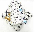 2017 100% coperte lavabili della mussola della garza del bambino stampate cotone