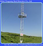 3 pernas Solid Round Telecommunication Lattice Guy Antenna Tower
