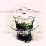 Taza de té de cristal modificada para requisitos particulares de la taza del vidrio de Borosilicate de la resistencia térmica de la taza