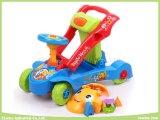 Multifuncional educacionais do bebê Walker 2 em 1 (ride-on ou empurrar para a frente)