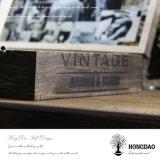 Hongdao personalizou a caixa de madeira da cor para a embalagem do vinho com fechamento