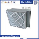 空気クリーニングのためのプリーツをつけられた化学繊維のパネルフィルター