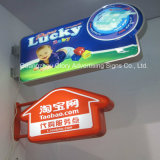 Shape irregolare Durable Plastic Sign 3D LED Light Box