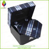 Diseño de rayas de embalaje rígido caja de regalo del lazo