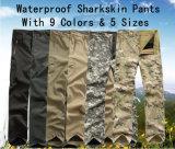 9 calças do combate das cores, calças de acampamento do Sharkskin da caça ao ar livre, cuecas de formação, cuecas militares, cuecas do exército, calças táticas
