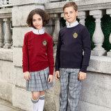 Modèles d'uniforme scolaire de chandails d'écoles de ventes en gros de la Chine