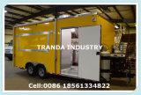 Электрическая Heated тележка доставки с обслуживанием ночного магазина киоска еды крепирует тележку торгового автомата