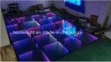 Abgrund-Spiegel RGB-Tanzen-Panel LED Dance Floor des Hartglas-3D für Hochzeitsfest-Stadiums-Erscheinen