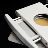 Lubinski Top Cigares et ciseaux portables en métal blanc à neiges (ES-LI-005)
