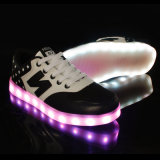 Fábrica de vendas diretas de alta qualidade High Top Unisex LED Light Shoes
