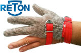 Trois Finger Metal Mesh Glove/Chain Mail Glove pour Cloth Cutting/Steel Mesh Glove