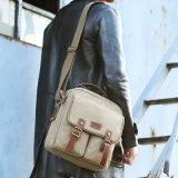 Bolso de hombro del mensajero de la computadora portátil y bolso del hombre de la lona