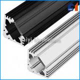 Protuberancias de aluminio anodizadas negro para el LED