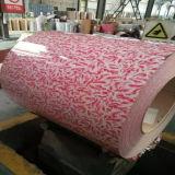 Pluma de impresión de flores Prepainted Bobina de acero galvanizado PPGI para materiales de construcción