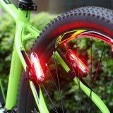 3개의 최빈값 USB 자전거 빛 플라스틱 재충전용 자전거 후방 빛 120lumens LED 테일 자전거 빛