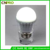 7W indicatore luminoso di lampadina di plastica di emergenza LED