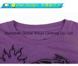 주문 여자 호랑이 전화면 인쇄 t-셔츠
