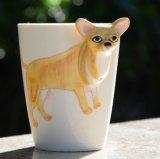 [أدم] عادة خزفيّة إبريق فنجان مع [3د] تصميم حيوانيّة