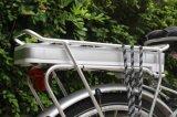 Bicicleta elétrica com borne do assento da suspensão