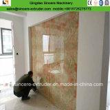 Производственная линия штрангпресс декоративной плиты PVC мраморный Coated листа PVC