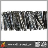 Fibra extraída derretimento do aço inoxidável de material refratário