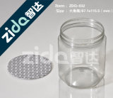 A alta qualidade por atacado Jerry plástico transparente pode com tampa aluminosa