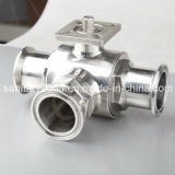 Ss304 Ss316L Materialのための衛生Triclamp L Type Ball Valve