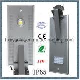 LED solar integrado vendedor caliente 18W ligero