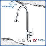 La singola maniglia di Upc estrae il rubinetto del dispersore di cucina (AF6083-5)