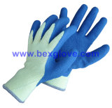 Doublure de polyester de 10 mesures, latex enduit, gant de fini de pli