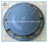 China-duktiler Gießerei-Einsteigeloch-Deckel mit ISO9001: 2008