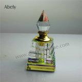 Botellas de perfume cristalinas para el petróleo esencial