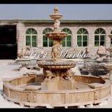 Travertino dorato Chlidren & fontana del leone per il regalo Mf-556