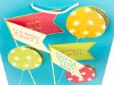 Großes Brithday Geschenk-Papierbeutel, Packpapier-Beutel, glatter überzogener Papierbeutel