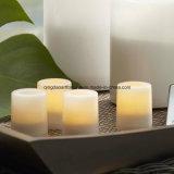 Flammenlose LED-Wachs-Kerze mit Tropfenfänger-Effekt