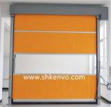 Portas industriais de alta velocidade do rolamento da tela do PVC