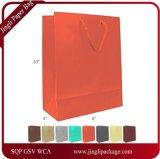 Lamellierter Eurotote-Papier-Geschenk-Mattbeutel, Farben-Falz kundenspezifischer Papiergeschenk-Beutel, Einkaufen-Papierbeutel-Druck-Firmenzeichen