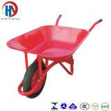 赤い皿の手押し車を塗りなさい