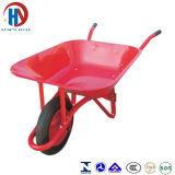 Pintar o Wheelbarrow vermelho da bandeja