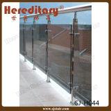 Trilhos de vidro materiais do aço inoxidável do revestimento do espelho/cetim para o cerco da associação (SJ-H824)