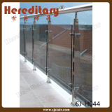 Pasamano de cristal material del acero inoxidable del final del espejo/del satén para el cercado de la piscina (SJ-H824)