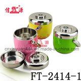 4 capas Lunch Box flor de acero inoxidable (FT-2410)