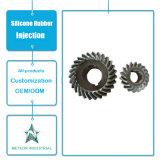 A máquina plástica personalizada do equipamento industrial dos componentes dos produtos parte a modelagem por injeção plástica da engrenagem