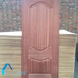 木のドアは自然な張り合わせられたドアの皮MDFのドアの皮を設計する