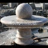 Fontaine rouge Mf-647 de granit de crème en pierre de marbre de fontaine