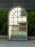 Specchio del giardino incorniciato metallo fissato al muro decorativo (PL08-80254)