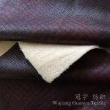 Bronzage du tissu 100% en cuir de polyester de suède pour la maison