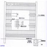 Zaun/Sicherheitszaun des Qualität Belüftung-überzogener Ineinander greifen-3D