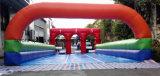 Inducteur de sports gonflable gonflable de piste de chemin de chevaux de poney de Derby de jeux de sport pour l'houblon gonflable de poney