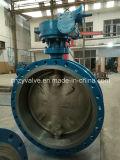 Válvula de borboleta excêntrica do aço de molde Dn600 de API/DIN/GOST Py25